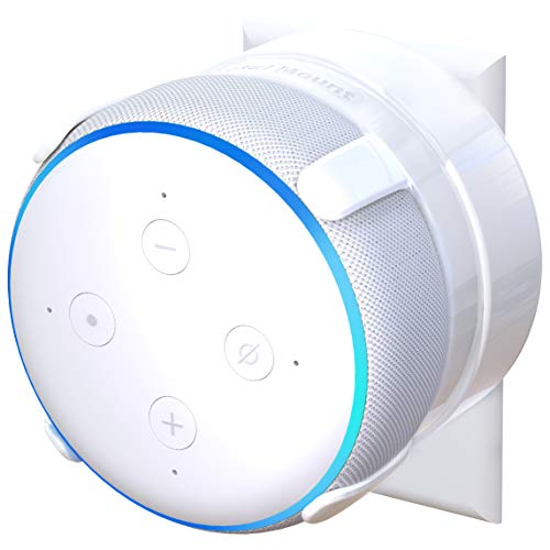 NEW - TotalMount Outlet Mount for Echo Dot 3rd Gen (Includes Cable Management) - White