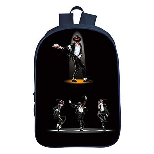 GD-Clothes Michael Jackson Backpack-Michael Jackson fans Back to School Bookbag School Backpack-Backpacks for School,Travel (Michael Jackson Backpack)