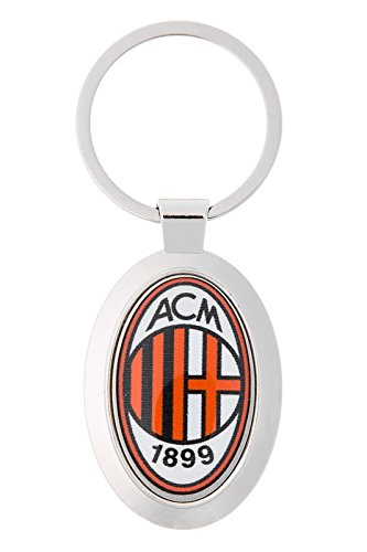 Football Club AC Milan Quality Metal Keychain with polymer sticker