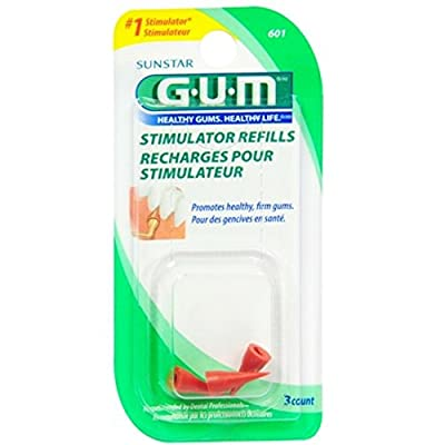 GUM Stimulator Refills 3 Count (12 Pack) by Sunstar Americas