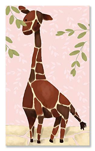 Oopsy Daisy Gillespie The Giraffe Pink by Meghann O'Hara Canvas Wall Art, 24 by - Giraffe Gillespie