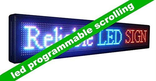 GOWE LED programable Mensaje deslizante Cartel con RBP Color ...