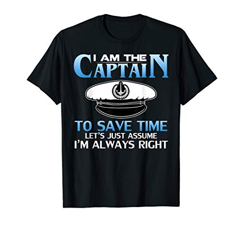 Boating Mens Clothing - I am The Captain of This Boat Funny Boating/Sailing Gift T-Shirt