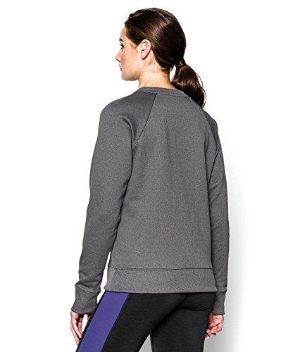 Under Armour Top UA Big Logo Letterman Crew - Sudadera de fitness para mujer Carbon Heather (093)