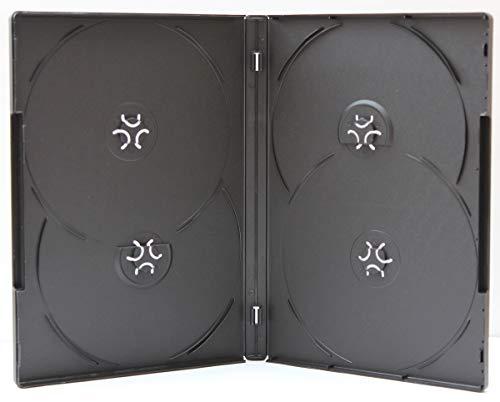 AmeriCopy Premium Black 14mm DVD Overlap Cases (100 Pieces, 4 Disc) ()