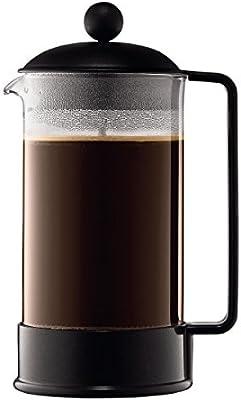 Bodum Brazil Cafetera émbolo, Negro, Transparente, Centimeters