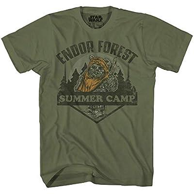Star Wars Endor Forest Summer Camp Ewok Tee Battle for Endor Return of Jedi Funny Humor Pun Adult Mens Graphic T-Shirt
