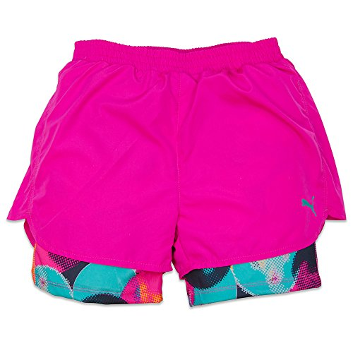 Puma Running Shorts Girls Microfiber Breathable Athletic Shorts - Hot Pink - 4