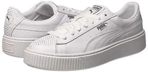 puma Wn's Ocean Donna Basket Basse puma Bianco Da Platform Silver Ginnastica Puma Scarpe White puma White qSgWwHnS6