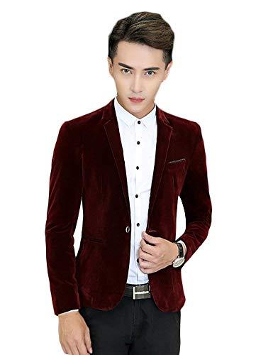 Blazers Entreprise Hommes Vêtements Revers Blazer Pourriture Un Slim Bouton Couleur Loisir Avec Taille Costume Unie Confortable Casual Fit Veste OOqTrFR