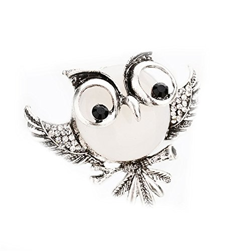 Glamour Vintage Blouse (Vintage Crystal Rhinestone Owl Brooch Women Men Lapel Pin Broach Badge Jewelry Gift)