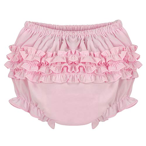Carriage Boutique Baby Girl Panties Diaper Covers - Pink Ruffled Bloomers, 18M ()