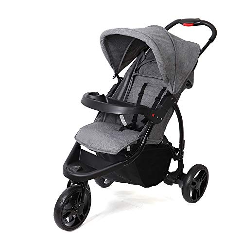 SpringBuds Baby Stroller Jogger City Tour Single Stroller Shock-Resistant 360 Ultralight Jogging Pushchair (Fog Gray)