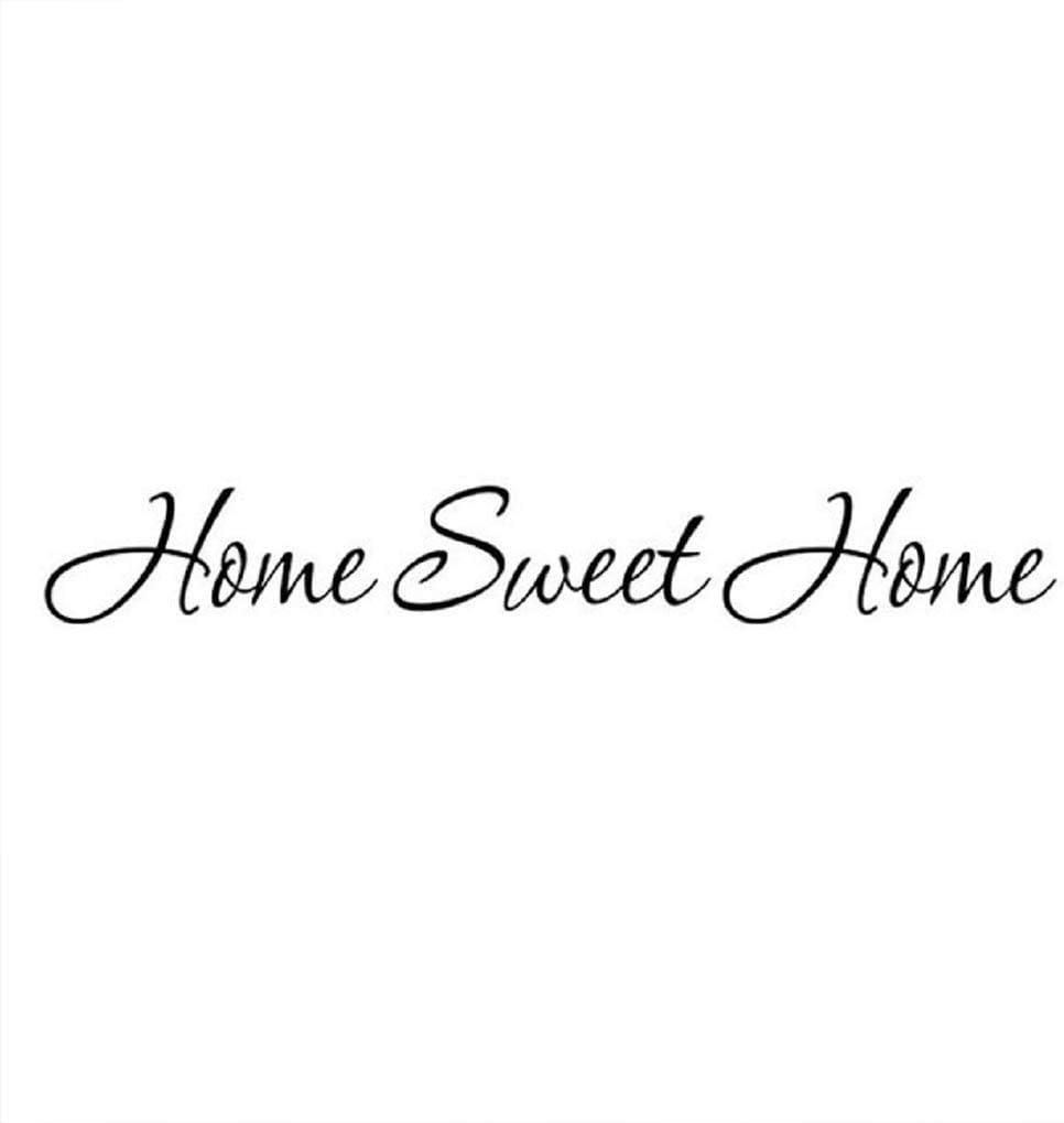 Autocollant Mural Accueil Sweet Home Auto-Adh/ésif Imperm/éable PVC Carrelage Stickers Muraux Amovible DIY 3D Decal Cuisine Salle de Bains Salon Plancher TV Toile de Fond D/écor Art