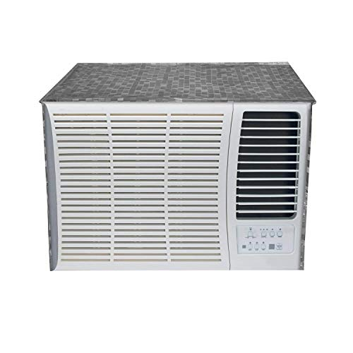 (Kuber Industries PVC 1 Pieces Window AC Cover for 2 Ton Capacity (Grey))
