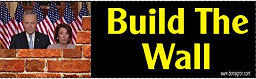 Build The Wall Bumper Sticker by DOMAGRON