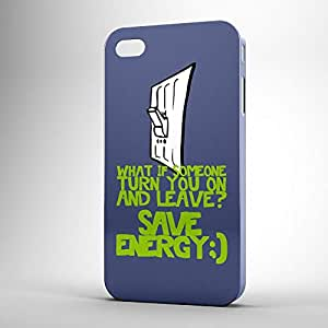 Turns you on iPhone 4s 3D wrap around Case - Typography