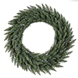 Vickerman Unlit Frosted Bellevue Alpine Artificial Christmas Wreath, 36-Inch
