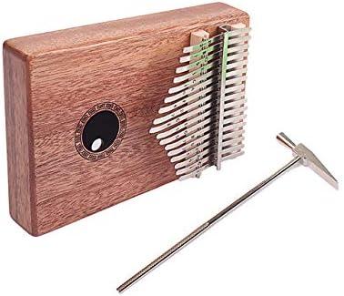 Kalimba Wood Portable 17 Key Finger Mbira Sanza Thumb Piano Musical Instrument Accessoires 18,5 * 13,5 * 3,2 Cm