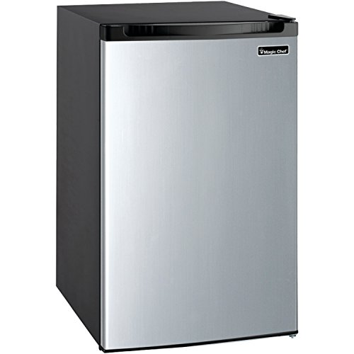 Magic Chef MCBR440S2 Refrigerator, 4.4 cu. ft, Stainless Steel ()