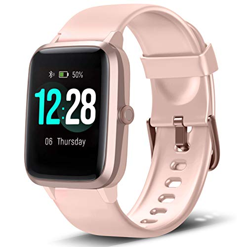 🥇 LETSCOM Smart Watch Fitness Tracker Heart Rate Monitor Step Calorie Counter Sleep Monitor Music Control IP68 Water Resistant 1.3″ Color Touch Screen Activity Tracking Pedometer for Women Men
