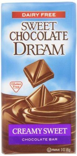 Sweet Chocolate Dream Creamy Sweet Chocolate Bar, 3 Ounce Bars (Pack of 12) by Dark Chocolate Dream [Foods]