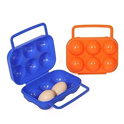 HoganeyVan Egg Carrier Plastic Portátil 6 Huevos Estuche ...
