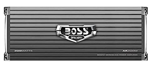 BOSS Audio AR2500M Armor 2500 Watt, 2/4 Ohm Stable Class A/B, Monoblock, Mosfet Car Amplifier with Remote Subwoofer (Remote Start 2014 Hyundai)