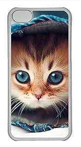 iPhone 5c case, Cute Cat Hqih iPhone 5c Cover, iPhone 5c Cases, Hard Clear iPhone 5c Covers