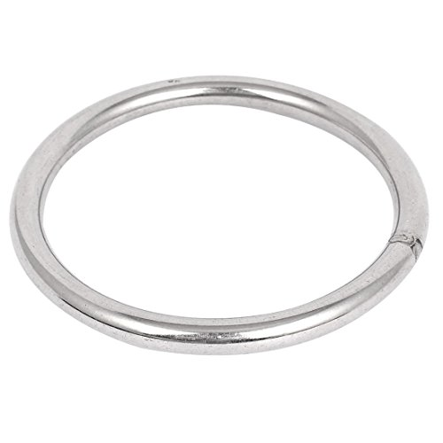 Uxcell a15060500ux0116 120mm x 10mm 304 Stainless Steel Webbing Strapping Welded O Rings