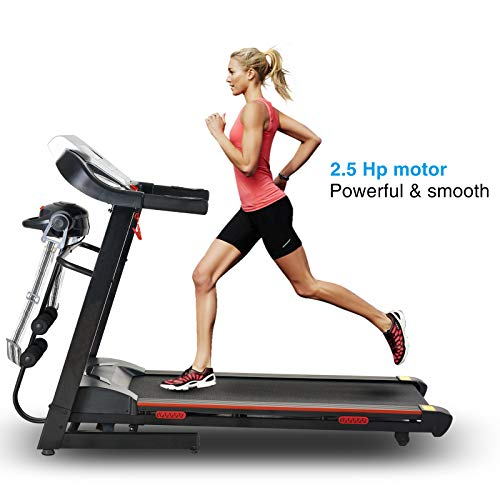 Murtisol MT-600 1800W Pro Folding Electric Treadmill Running at Home