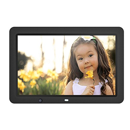 YKS Digital Picture Frame 12 inch with Motion Sensor & 8GB U Disk Memory HD 1280x800 Frame Wide Screen View Pictures Listen to Music MP3 Video MP4 (Black)