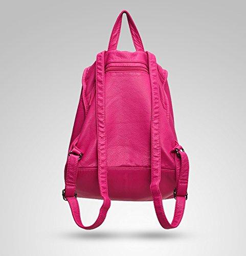 shijinshi Damen Leder Schultern Tasche mit Nieten rose xt5N3bM