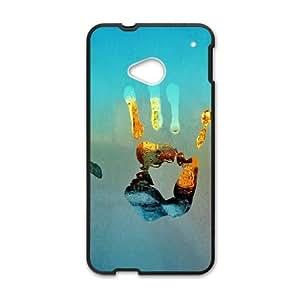 HTC One M7 Cell Phone Case Black Handprints SU693116
