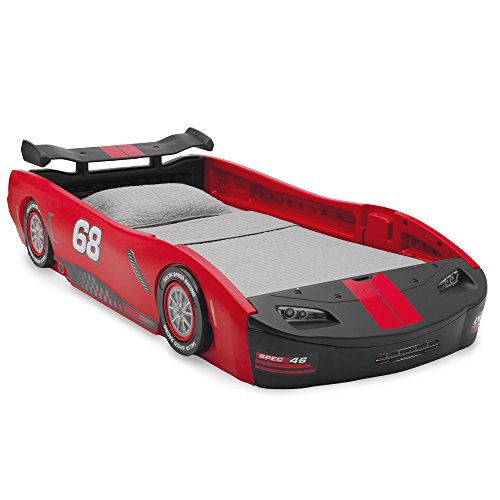 Car Bed Turbo Race Twin Delta Boys Children Bedroom Kids Bed