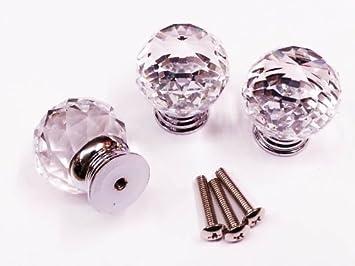 10 Pomelli per porte di 30mm in cristallo di altissima qualità ...
