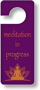 Arisen Meditation Door Hanger | Do Not Disturb Sign | Meditation Gift for Home or Office