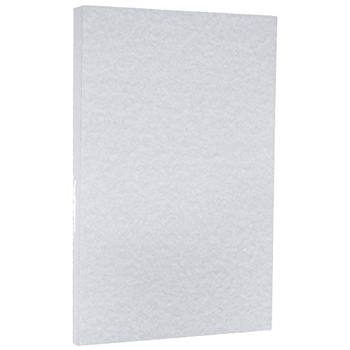 Blue 50 Sheet Pack - JAM Paper Parchment Legal Size Cardstock - 8.5