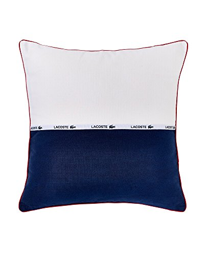 Lacoste L.12.12 Canvas Throw Pillow, White/Blue