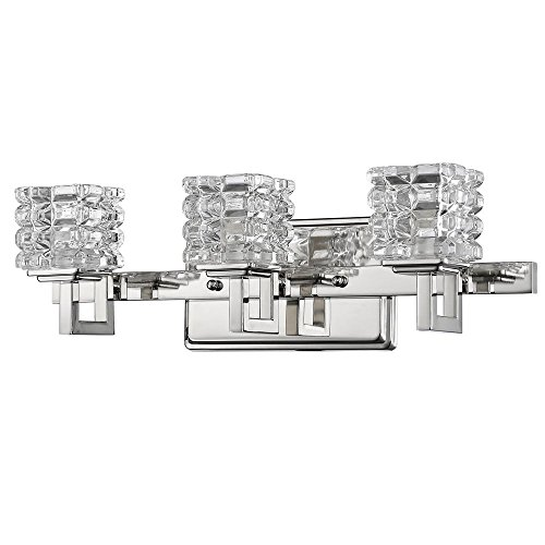 - Acclaim Lighting IN41316PN Coralie Indoor 3-Light Bathroom Sconce with Crystal Glass Shades, Polished Nickel