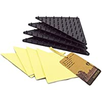 NOPPOR Tile Wood Vinyl Floor Anti Slip Rug Grippers Holder Runners Grip Underlay Pads Non Slip Stickers Set of 4