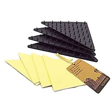 NOPPOR Anti Slip Rug Grippers Runners Grip Underlay Spike Pads Non Slip Stickers for Tile Wood Vinyl Floor Set of 4