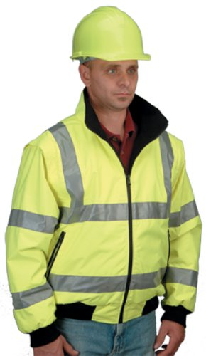 Jackson Safety 18562 ANSI Class 3 Polyester Waterproof Convertible Parka with Silver Reflective, 3X-Large, Lime