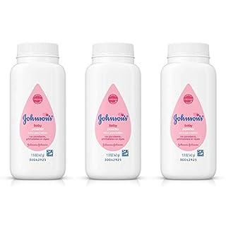 Johnsons Baby Powder Original Travel Size 1.5oz (Pack Of 3)