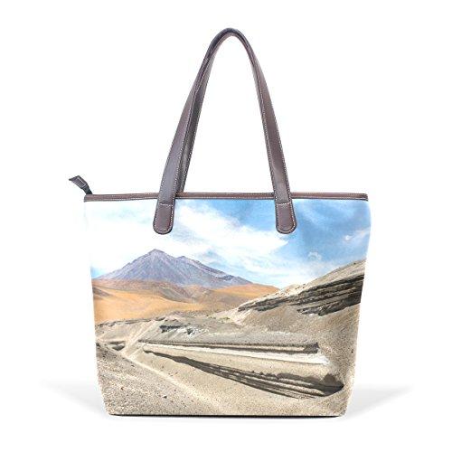 TJDY Store Ojo De San Pedro Chile PU Leather Handbags Tote Bag Zip Bag Shopping Bag for - Pedro San Store