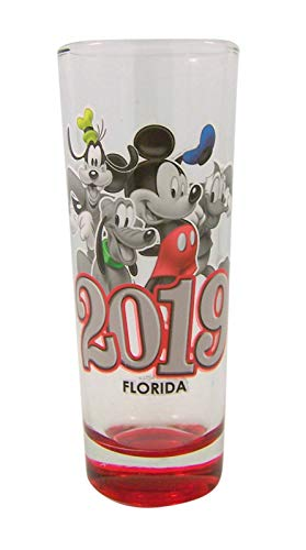 Disney 2019 Mickey and Friends Group Shot Design Glass, 4 Inch