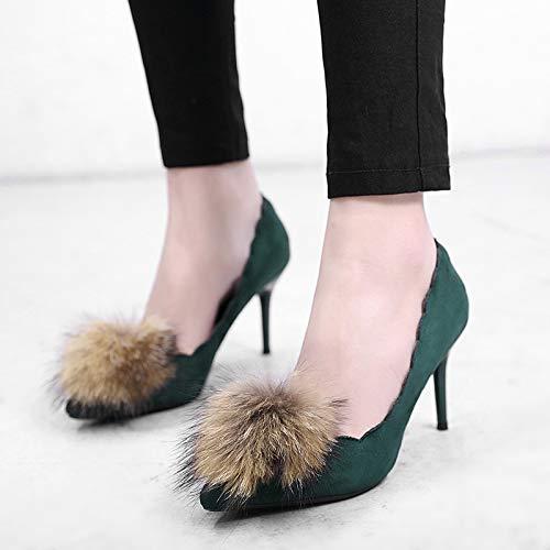 Scarpe Con Alto Da Verde Hrcxue Tacco Donna A Spillo Appuntite Davvero 4qwqUHSx