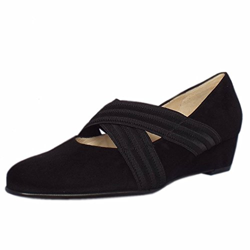 Pumps Wedge jeska In Peter Black Black Sued Ballet Kaiser Suede Low A17 wY4qwxFnSf
