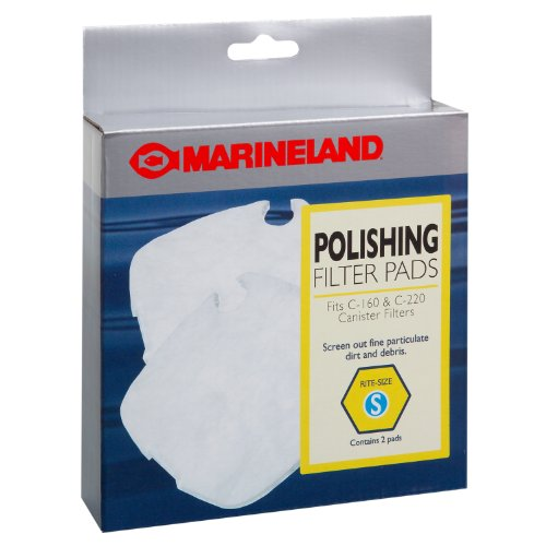Filter Pad Pads - MarineLand PA11480 C-160 & C-220 Canister Filter Polishing Filter Pads, 2-Pack