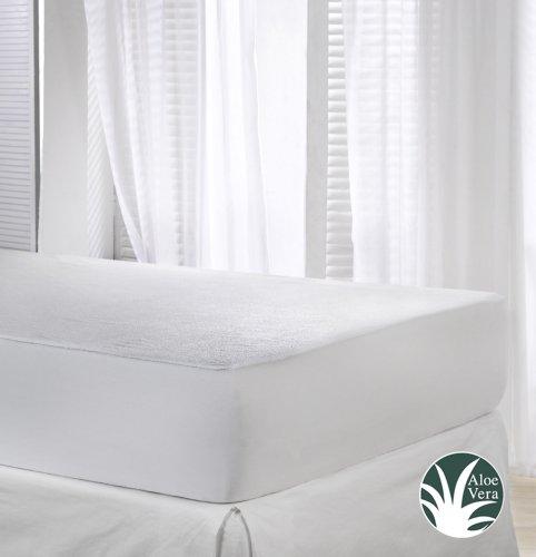 VELFONT - Matratzenschoner Aloe Vera, Wasserdicht und Atmungsaktiv - verfügbar in verschiedenen Größen - 200x190/200cm